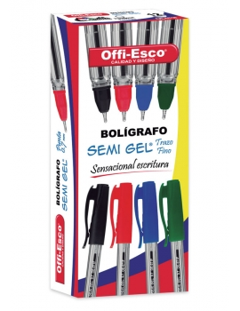 BOLIGRAFO SEMI GEL  0.7mm TRAZO FINO OE - 071F DISPLAY x 12